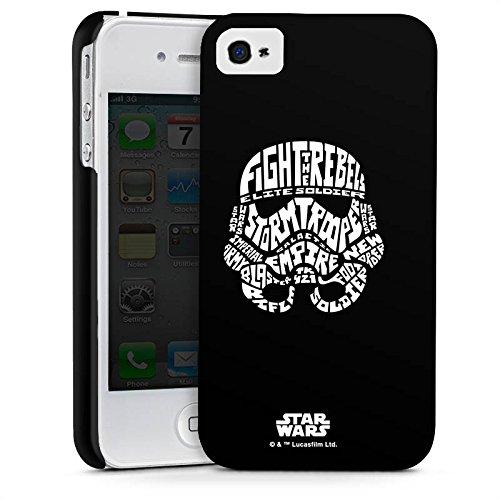 Apple iPhone 8 Plus Hülle Case Handyhülle Star Wars Merchandise Fanartikel Storm Trooper Typo Premium Case glänzend