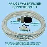 Kit per il collegamento del filtro dell'acqua per frigoriferi Samsung, Daewoo, kit idraulico di collegamento per frigoriferi all'americana con freezer, compatibile con Samsung, LG, Bosch, Daewoo, GE + tutti con tubo da 6,35 mm