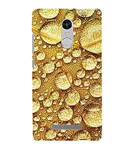 Water Drop brown Background 3D Hard Polycarbonate Designer Back Case Cover for Xiaomi Redmi Note 3 :: Xiaomi Redmi Note 3 (3rd Gen)