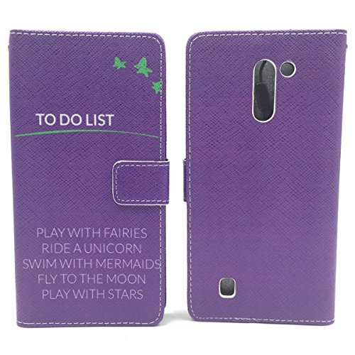 König-Shop Schutz Hülle Wallet Rahmen Bumper Handy Tasche Case Cover Leder-Imitat Bookstyle, Motiv:BÄR DONT TOUCH MY PHONE, Für Handy:Apple iPhone 6 / 6s Plus (5.5 Zoll) TO DO LIST LILA / VIOLETT