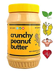Flex Protein Premium Peanut Butter 100% Natural with no added salt, sugar or oils (Crunchy) 1Kg