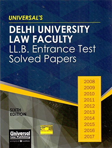 Delhi University Law Faculty LL.B. Entrance Test Solved Papers