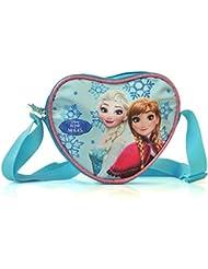"""Disney Princesses - Petit Sac à Main en forme de Cœur : Reine des Neiges """"Elsa et Anna"""" ou Les Princesses Aurore, La Belle, Raiponce - Tissu satiné et Paillettes"""