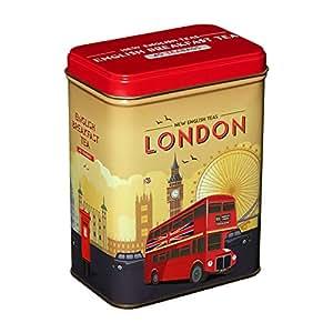 New English Teas - English Breakfast Tea 40 Tea Bags - Vintage London Travel Tin