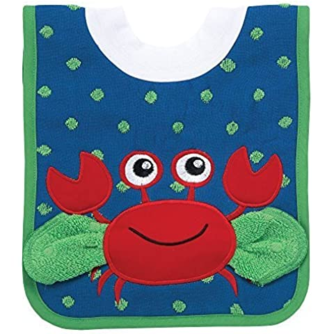 AM PM Kids! Pullover Bib with Washcloth, Crab by AM PM Kids!