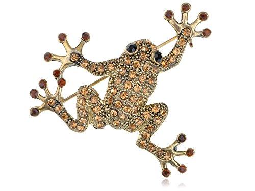 Topaz Farbige Strass Frosch Toad Brosche ()