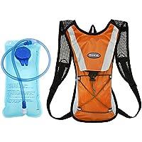 Mochila de Hidratacion 2L Mochila Mochila de Ciclismo hidratación vejiga Agua de 2 litros Ciclismo Escalada Camping Bolsas de Running - Naranja