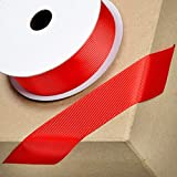 CLUB GREEN Grosgrain Ribbon, Red, 38 mm x 10 m