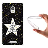 Alcatel OneTouch Pop Star Hülle, WoowCase Handyhülle Silikon für [ Alcatel OneTouch Pop Star ] Star Satz - I Love You To The Moon And Back Handytasche Handy Cover Case Schutzhülle Flexible TPU - Transparent