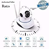 Ratzs RZIP01A WiFi Wireless HD Dual Antenna IP Security Camera CCTV Cameras