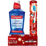 [Sponsored]Colgate Visible White Sparkling Toothpaste - 100 G (Mint) And 360 Visible White Toothbrushwith Plax Complete...