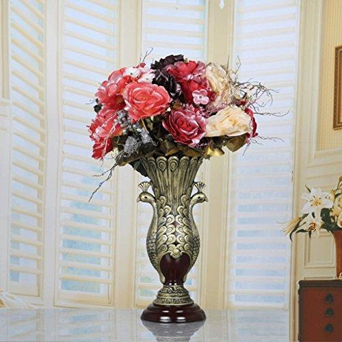 Vase Grand de Simulation de Style Européen de Fleur Créatif Salon Maison Faux Fleur ZHAOJING (Couleur : B)