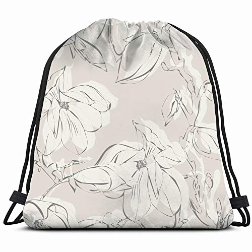 fjfjfdjk Magnolia The Arts Flower Drawstring Backpack Gym Sack Lightweight Bag Water Resistant Gym Backpack for Women&Men for Sports,Travelling,Hiking,Camping,Shopping Yoga -