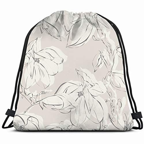 fjfjfdjk Magnolia The Arts Flower Drawstring Backpack Gym Sack Lightweight Bag Water Resistant Gym Backpack for Women&Men for Sports,Travelling,Hiking,Camping,Shopping Yoga -