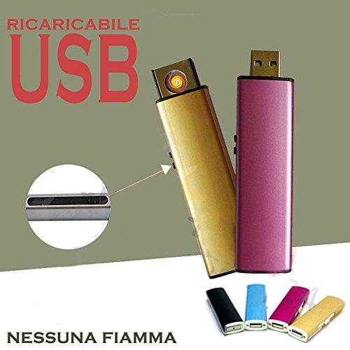 Mechero USB recargable cortavientos sin llama