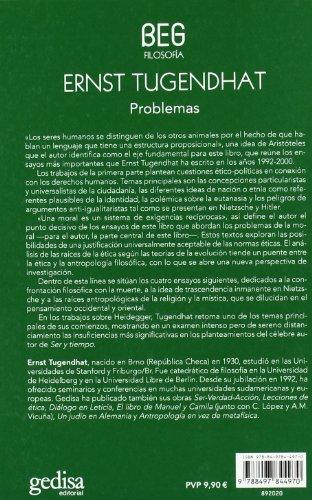 Problemas: Lenguaje, moral y trascendencia (BEG / Filosofía) por Ernst Tugendhat