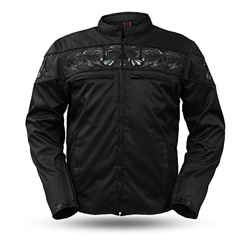 Black Skull Snap (The Savage Skulls Herren Textil-Jacke)