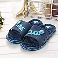 Weyb New Fashion Cartoon Couple Slippers Men and Women Massage Non-Slip Wear-Resistant Home Indoor Bathroom Slippers