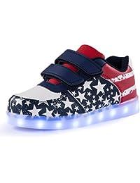 AFFINEST Bambini Unisex Scarpe LED Luminosi Sneakers con Le Luci Accendono Scarpe  Sportive 118e248fbc5