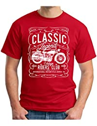 OM3 Classic-Legend-White - T-Shirt Vintage Riders Club International Motorcycle Supply CO Garage Cult, S - 5XL