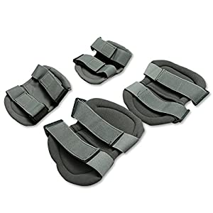 Tactical Knee Elbow Pads, TF Style Protective Safety Gear Knee Elbow & Pads For Tactical Airsoft Combat Protective Skate - 4 PCS from TOPFIRE