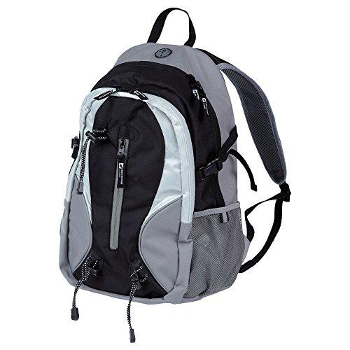 Rucksack, 23 l, verschiedene Taschen, Schlüsselhalter, Stiftfach, Marke Schwarzwolf outdoor, Produkt TORENT Schwarz
