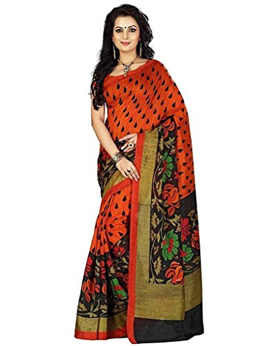 Sarees (Women\'s Clothing Saree For Women Latest Design Wear Sarees Collection in Multi-Coloured Art Silk Material Latest Saree With Designer Blouse Free Size Beautiful Bollywood Sarees For Women Part