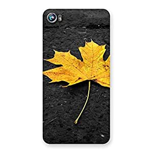 Gorgeous Yellow Lovely Leaf Back Case Cover for Micromax Canvas Fire 4 A107