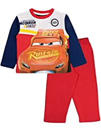 Disney Kid Boys Official Cars Lightning McQueen Long Pyjamas PJ's 2 Piece Set Size UK 1-8 Years