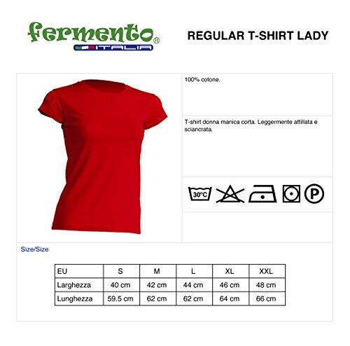 T-shirt donna divertente MENTRE DIO DISTRIBUIVA LE TETTE IO ERO IN FILA PER IL CERVELLO - maglietta umoristica 100% cotone JHK_Fermento Italia Nero
