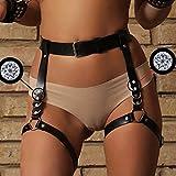 Homelex Sexy Punk Leder Taille Bein Caged Harness Gothic Strumpfband Für Damen (LP-056) - 3
