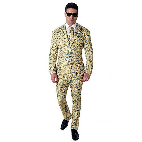 Rubie 's Offizielles Herren 's Minion Icon Anzug Crazy, Erwachsenen-Kostüm–X-Large (Für Minion Halloween Kinder Kostüm)