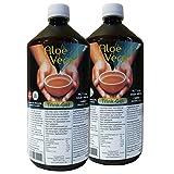 Aloe Vera, Trink-Gel, 99.7% natur pur, 2 Liter Sparpack
