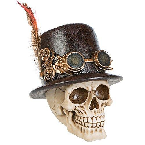 Deko Totenschädel Totenkopf Skull Steampunk Gothic Halloween Dekoration -
