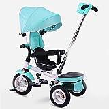 &Kinderwagen Kinder Dreirad Babywagen Rotary Sitz 1-3-5 Jahre alt One-Click-Klapp-Baby Cart (Farbe : 2#)