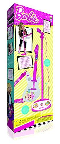 IMC Toys - Deutschland 784154 - Juego de guitarra eléctrica y micrófono de Barbie [importado de Alemania]