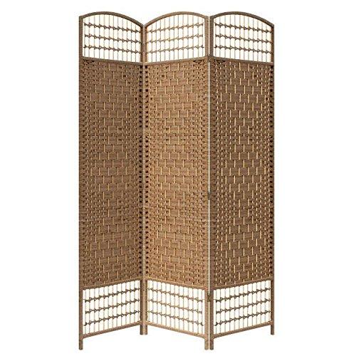 Yahee 3 fach Paravent Raumteiler Trennwand Sichtschutz Wand für Terrasse Balkon Garten (Beige)