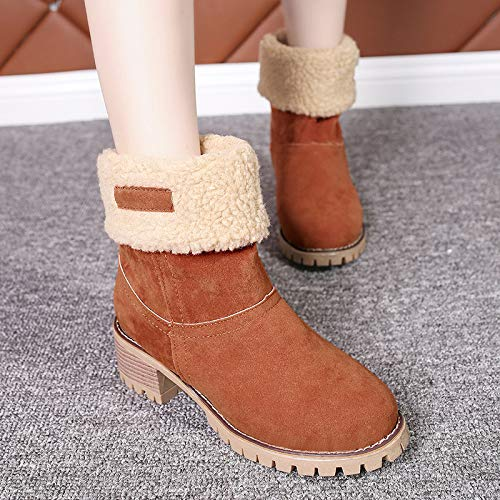 m-mask Snow Boots 2 In1 Ankle Booties Shoes Mid Calf Boot Thermal Winter Women