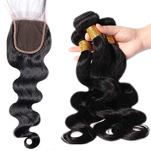 Lady Outlet Mall Extension de Cheveux Humains Naturel pour Femme Body Wave 18\