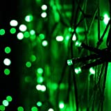 Hanumex® 25 Meter Green LED String Lights Diwali, Wedding, Christmas Party Home/Office/Building/Garden/Outdoor Decoration Trendy Quirky Unique Gifts Rice Copper Wire Lights