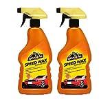 2x ARMOR ALL Speed Wax Spray Politur & Wachs 500 ml