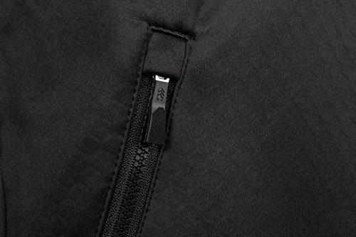 Canterbury Herren Thermoreg Spacer Fleece 1/4 Zip Running Top, Schwarz, M schwarz