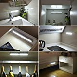 from AMIR AMIR Motion Sensor Light Bar, (10 LED, 3 Pack) Sensor Wardrobe Light, Portable Rechargeable LED Closet Night Light with Stick-On Magnetic Strip for Closet Cabinet, Stairs, Drawer, Wardrobe, Christmas