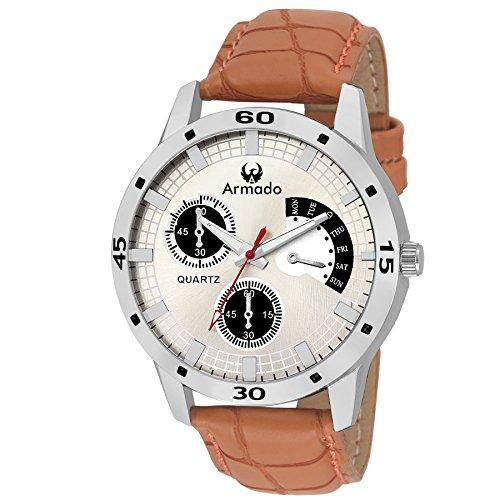 Armado AR-072 Bold Brown-silver Analog Watch-For Men