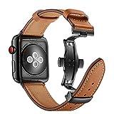 Myada Kompatibel für Apple Watch Armband 38mm 40mm Leder,Lederarmband Apple Watch 40mm Armband...