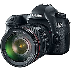 Canon EOS 6D 20.2MP Digital SLR Camera (Black) with 24-105mm IS Lens Kit