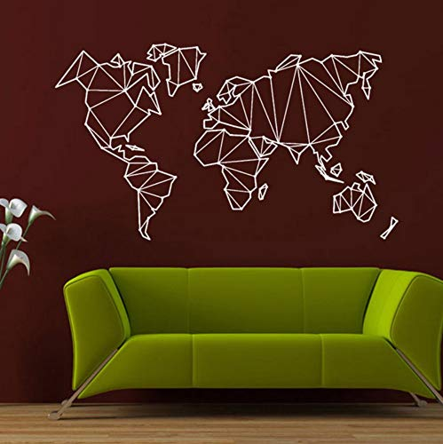 Pbldb 73X42 Cm Mapa Del Mundo Geografía Tierra Blanca Pegatinas De Vinilo Tatuajes De Pared Náutica Decoración Para El Hogar Salón Papel Tapiz Autoadhesivo