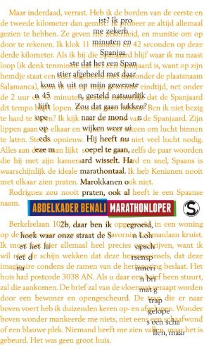 Marathonloper par Abdelkader Benali