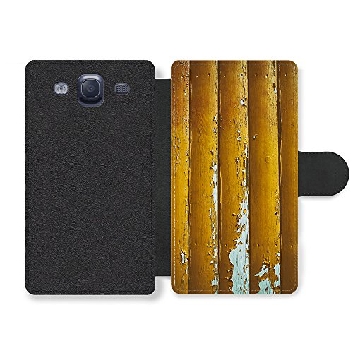 Distressed Faux Leather (Micro Gorilla Distressed Worn Out Gold Wood Effect New Pattern Style Faux Ledertasche Hülle fürSamsung Galaxy S3)