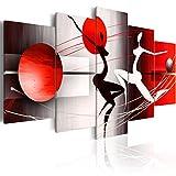 BD XXL murando Impression sur Toile intissee 200x100 cm 5 Pieces Tableau Tableaux Decoration Murale Photo Image Artistique Photographie Graphique Silhouette 42359